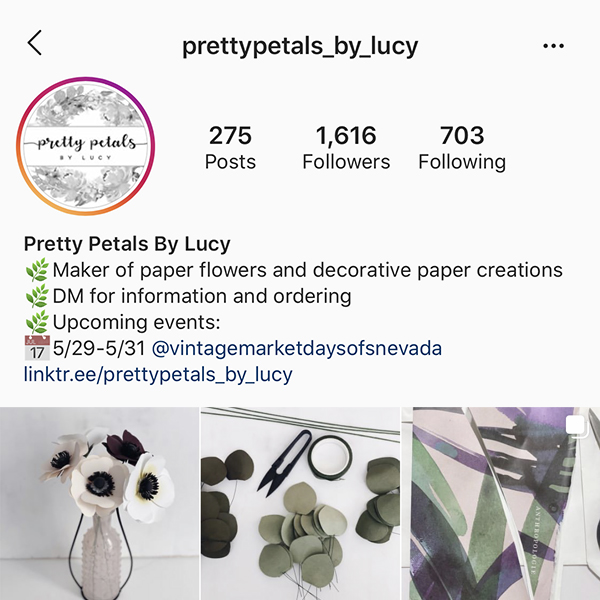 Petals By Lucy Instagram